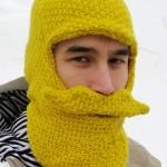 Beard Head Knit Cap, viiksi-parta-huppu