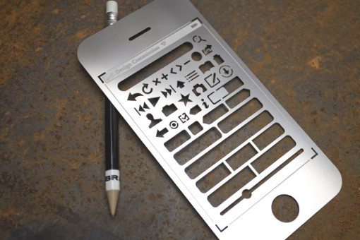 iPhone Stencil Kit, suunnittele käyttöliittymät oldschool-tavalla 1