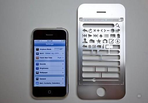 iPhone Stencil Kit, suunnittele käyttöliittymät oldschool-tavalla 2
