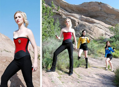Red Trekkie Corset on Star Trek -korsetti