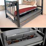 Bed Bunker -sängyn alle mahtuu 70 käsiasetta – jotta tuntisit olosi yöllä turvalliseksi
