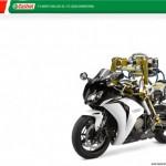Flossie on moottoripyörän testikuljettaja-robotti