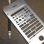 iPhone Stencil Kit, suunnittele käyttöliittymät oldschool-tavalla