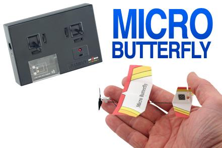 Plantraco Micro Butterfly on maailman pienin radio-ohjattava lentokone -rakennussarja