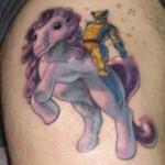 Wolverine ratsastaa My Little Ponylla -tatuointi