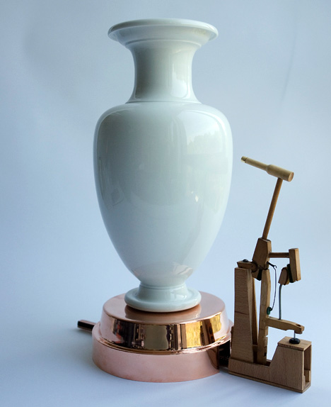 Sevres Vase Clock by Georgios Maridakis
