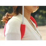 Shoulderbrella on handsfree-sateenvarjo 2