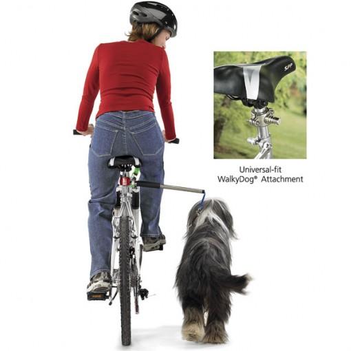 WalkyDog taluttaa koiraa pyörän rinnalla
