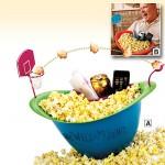 Popcorn-kulho koripallopelillä