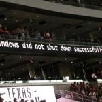 Ongelmia Dallas Cowboysien stadionilla Windowsin kanssa