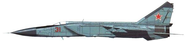 MIG-25 sivuprofiili