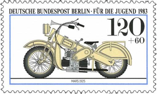 Mars on moottoripyörä 1920-luvulta, suunnittelijana Claus Franzenberg 3