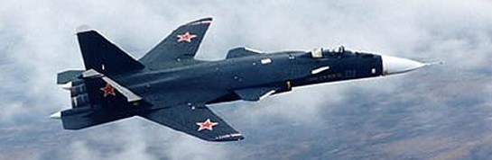 Su-47 testikone lennolla