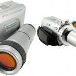 Digitaalivideokamera 8-kertaisella optisella zoomilla on erikoisennäköinen