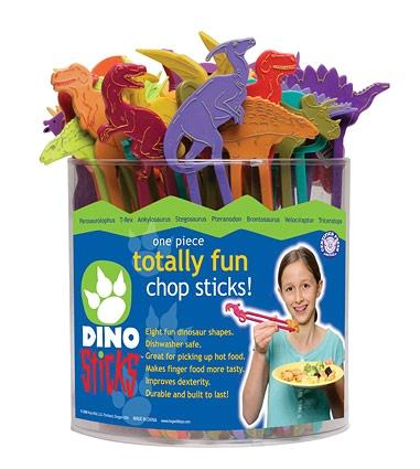 Dino Sticks -puikot opettavat syömään puikoilla jo nuorena