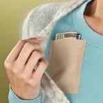 Instant pocket on vaatteeseen tarvittaessa liimattava lisätasku