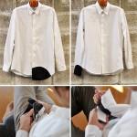 Kiiltävät lasit -kauluspaita on paita jolla voi pyyhkiä