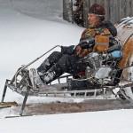 Venäläistä moottorikelkkailua