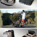GYST -laukku tarjoaa alustan vaatteiden vaihtamista varten