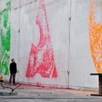 Facadeprinter tekee automaattisesti seinämaalauksia värikuula-ase-kuulilla