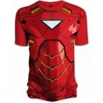 Pimeässä loistava Iron man chest T-paita on nörttiuniformujen aatelia