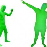 Greenscreen-puku chromakey-efektiä varten
