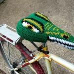 Reptilicus – Reptilian Bike Seat Cover -satulansuojus krominvihreänä