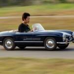 Mercedes-Benz 300SL puolikoossa 50-kuutoisella moottorilla tai isommalla