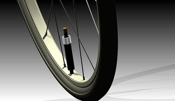 Polkupyörän renkaan täyttöpatruuna