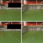 LED-urheilukenttä tarjoaa raidoituksen peliin kuin peliin