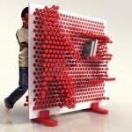 Neulataulukirjahylly on muuntuvaa designiä