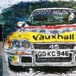 Englantilaistaiteilija maalaa autoja radio-ohjattavilla autoilla