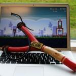 Onko tämä USB-liitännällä varustettu ritsa optimaalinen Angry Birds -peliohjain?