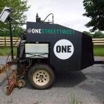 One Street Tweeter tulostaa Twitter -viesit asfaltin pintaan