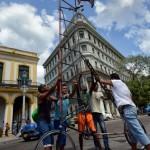 Maailman korkein polkupyörä on 5,5 metriä korkea