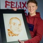 Felix lennätti Brittitalentin Suomeen maalaamaan kuvan Elastisesta ketsupilla