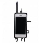iPhone-kotelo yhdistettynä linkkuveitseen.