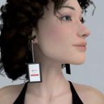 Video Earrings – pikkuiset näytöt korviin