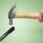 Cold Steel Shark Tactical Marker – Rajumpiakin kolhuja kestävä tussi