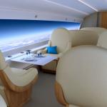 Ääntä nopeampi lentokone vaihtaa ikkunat valtaviin näyttöihin