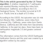 """Automaattinen algoritmi """"kirjoitti"""" ensimmäisenä jutun maanjäristyksestä"""