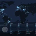 Tweetping esittää Twitter-dataa reaaliaikaisesti maailmankartalla
