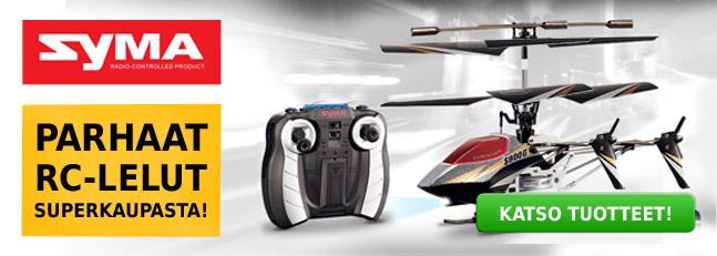 Syma helikopterit ja muut hurjat radio-ohjattavat RC-lelut Superkauppa verkkokaupasta
