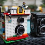 Legoista rakennettu twin-lens reflex -Instax Mini -polaroid-kamera