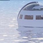 Kuplahotelli kelluu vapaasti saarelle uudessa huvipuistossa, Japanissa