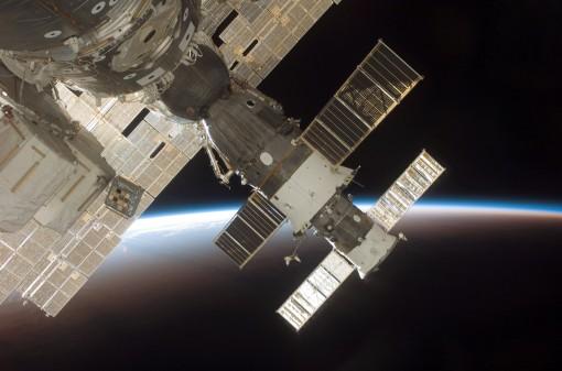 Sojuz telakoitumassa ISS:ään