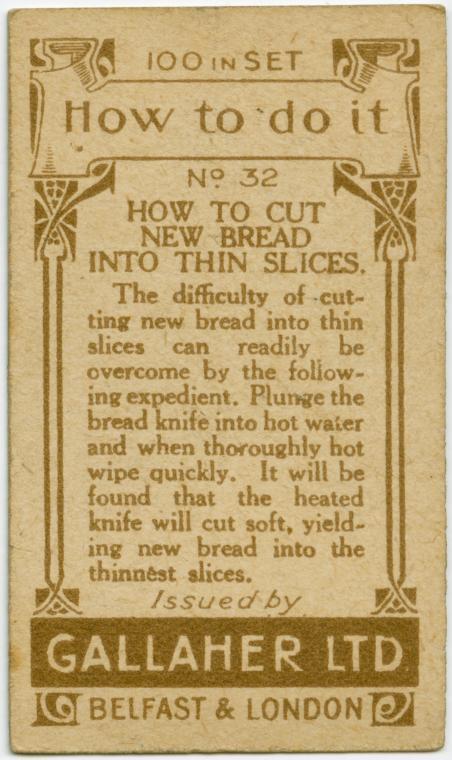 Ohjeet ohuisiin leipäsiivuihin