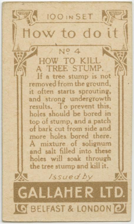 Kannon poistaminen, teksti (solignum on termiittimyrkky)