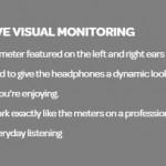 Hauskoissa Meters Music OV-1 -kuulokkeissa on perinteinen VU-viisari kuulokkeen taustassa
