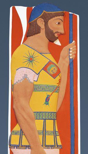 Kreikkalainen soturi Aristion, taistelumuistelo-hautareliefi, 510 eaa